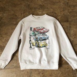 Brandy Melville White Crewneck Sweatshirt Italia